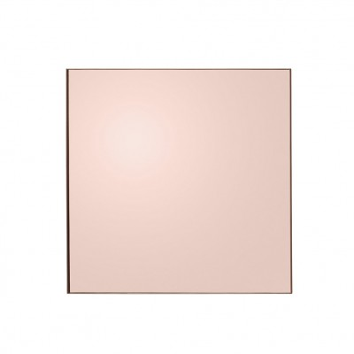 Miroir teinte carré rose