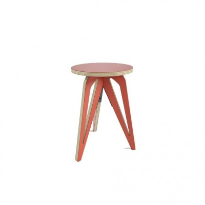 Tabouret Tripode Rouge
