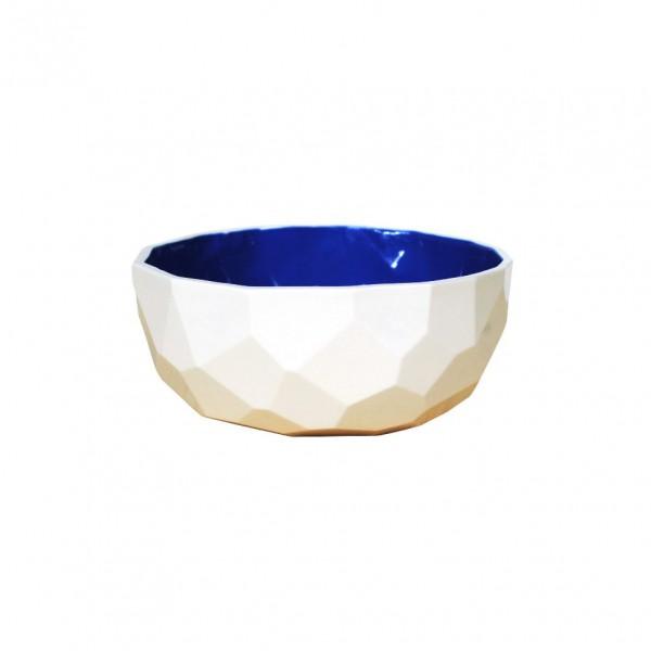 Coupe facetée bleue