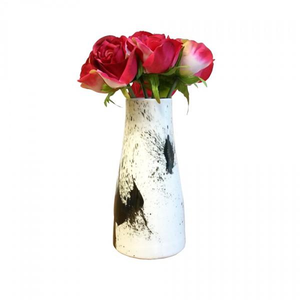 Vase dripping noir