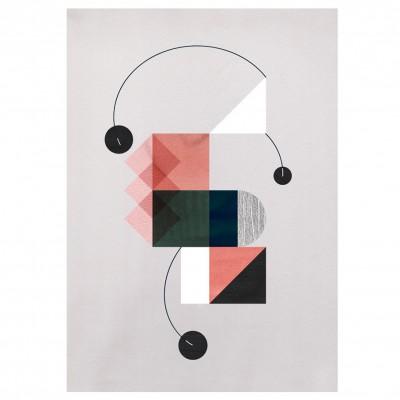 Illustration falling circles rose