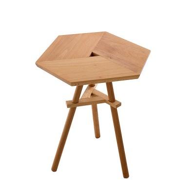 Petite table hexagonale
