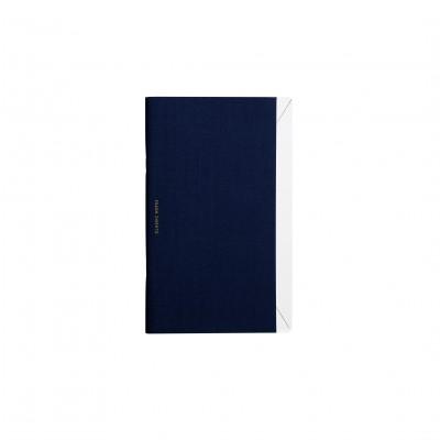 Carnet de note en lin navy