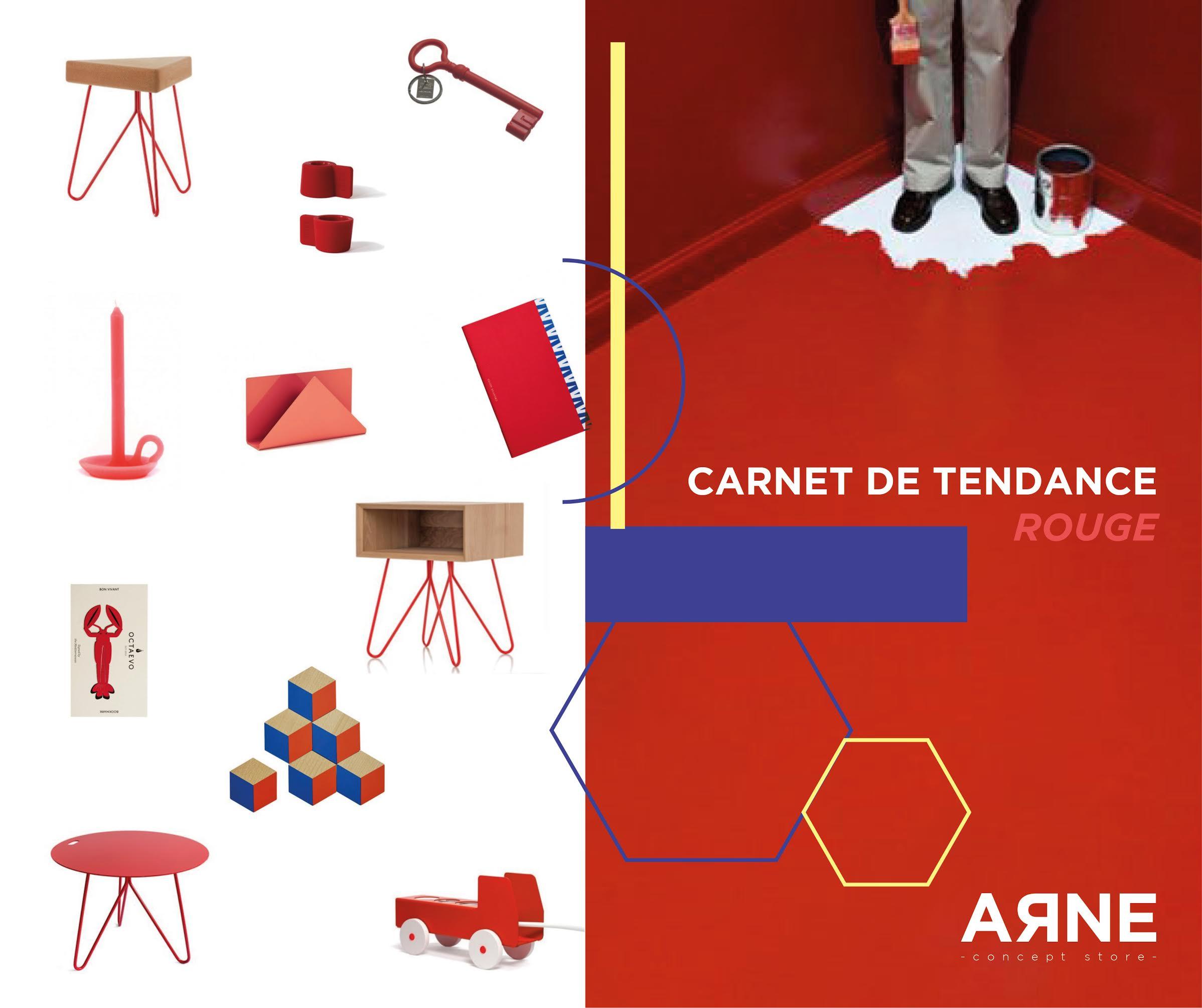 En rouge et… Design !