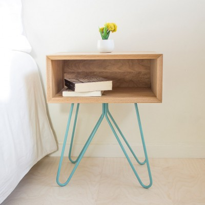 Table d'appoint/chevet NOVE Bleue