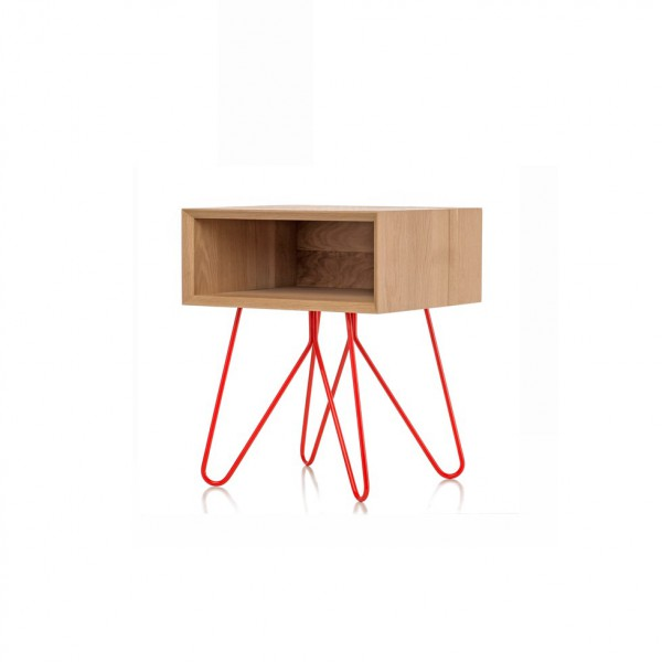 Table d'appoint/chevet NOVE Rouge