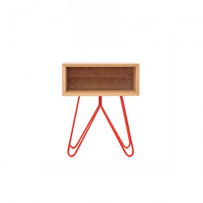 Table d'appoint/chevet NOVE Rouge