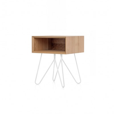 Table d'appoint/chevet NOVE Blanc