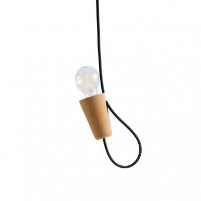 Lampe Cordelette liege clair noire