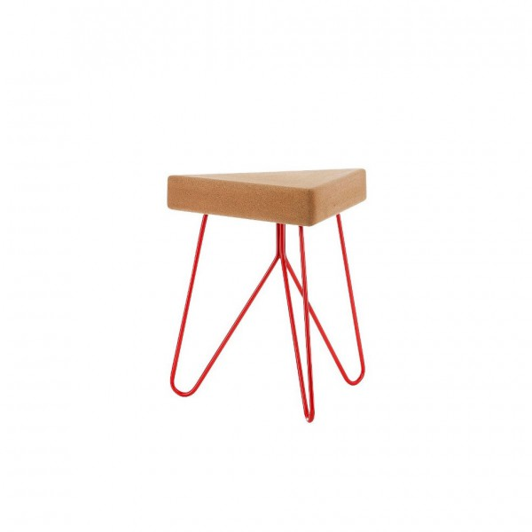 Table-tabouret Liege rouge
