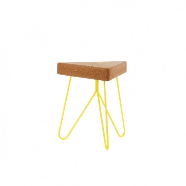 Table-tabouret Liege Jaune