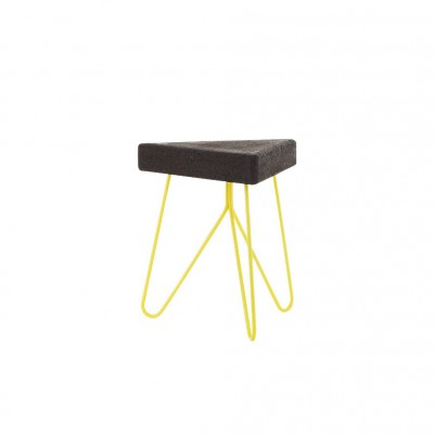 Cork Table-Stool Yellow