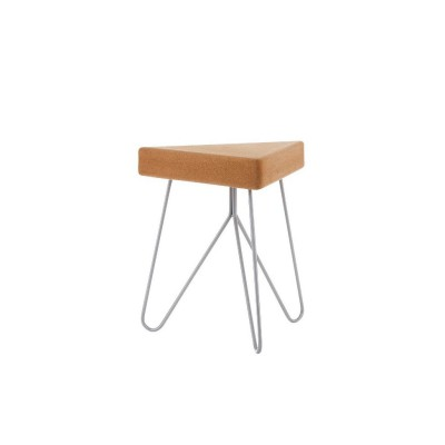 Cork Table-Stool Grey