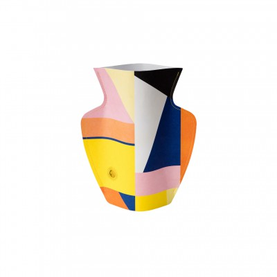 Covering vase cubistic