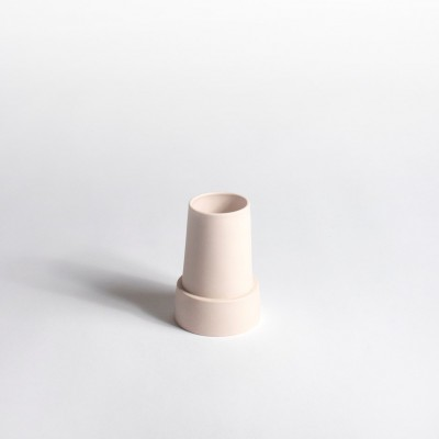 Vase phare breton rose pale PM