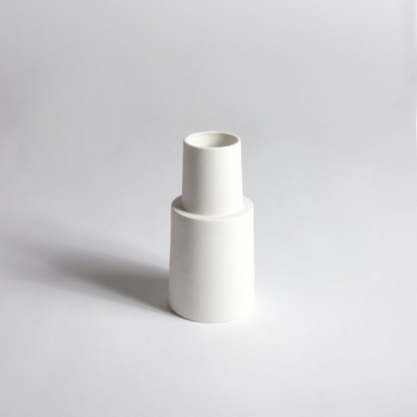 Vase phare breton blanc M