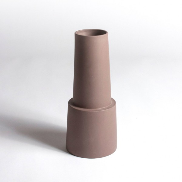 Vase phare breton marron GM