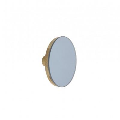 Patere miroir bleue