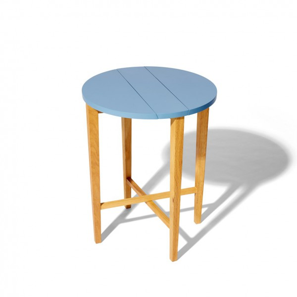 Table pliante bleue océan
