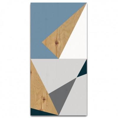 Tableau de bois Angle bleu