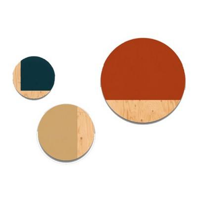 Tableau de bois Rond Créatif