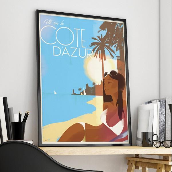 """Affiche """"Cote d'Azur"""""""