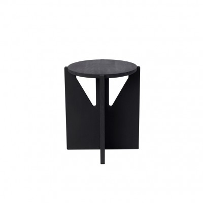 Table-tabouret en hêtre noir