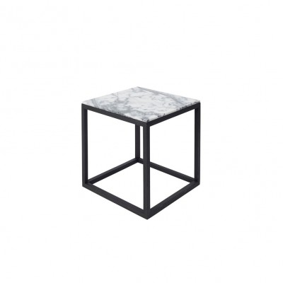 Cube Table with White Marble