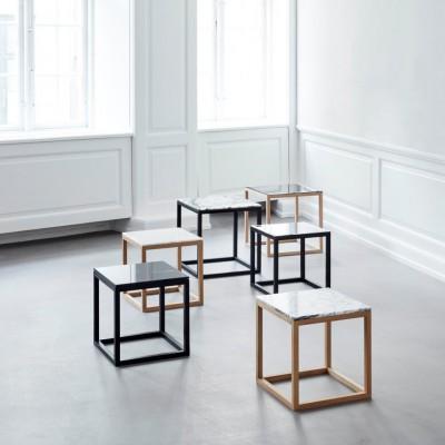 Table basse Cube Marbre Blanc