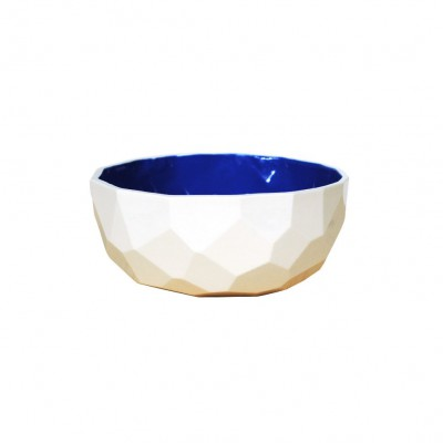 faceted cup Blue