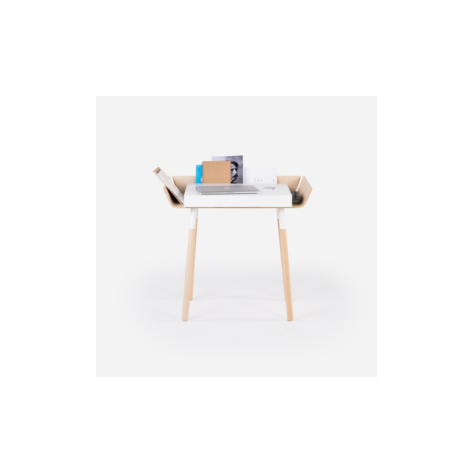 petit bureau open blanc arne concept. Black Bedroom Furniture Sets. Home Design Ideas