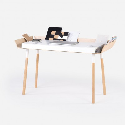 Large Open desk White