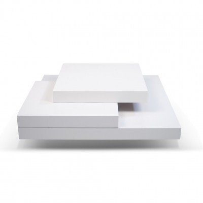 Table-basse multi-cubes Blanche