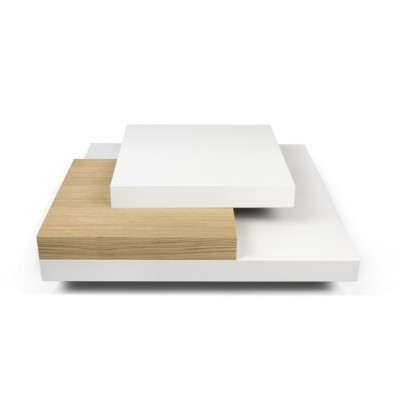 Table-basse multi-cubes chêne