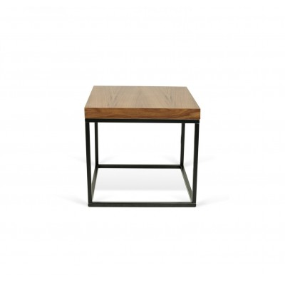 Table-basse Cube Noyer Noir