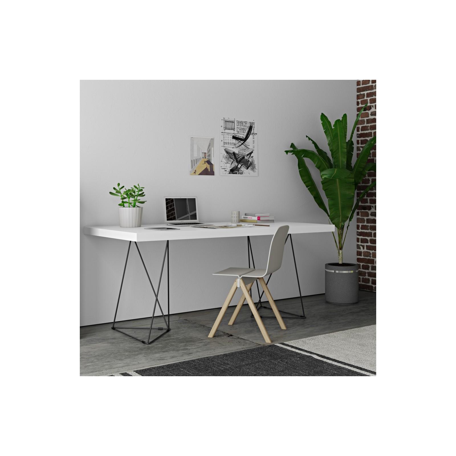 Grand bureau filiforme blanc arne concept for Grand bureau blanc