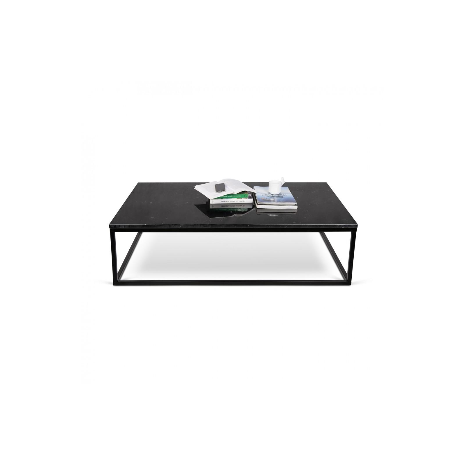 c7bd6e4edd244 ... La véritable table-basse marbre noir & chrome ...