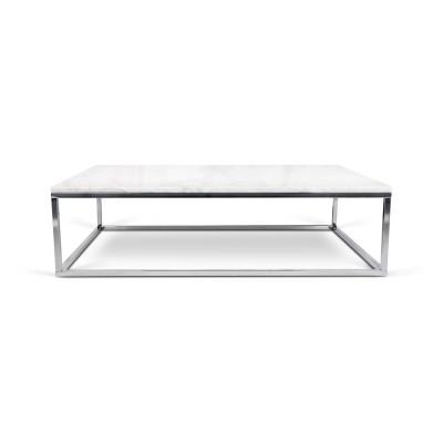 La véritable table-basse marbre blanc & noir