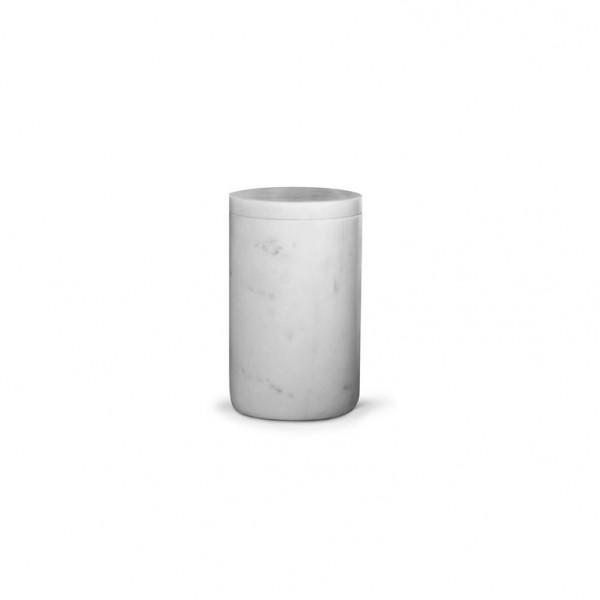 Grand pot couvert en marbre