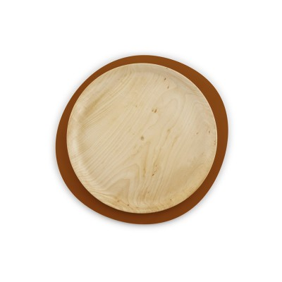 Little Wooden and metal tray red