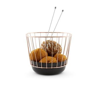 Canasta Basket black & brass