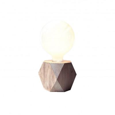 lampe socle en bois