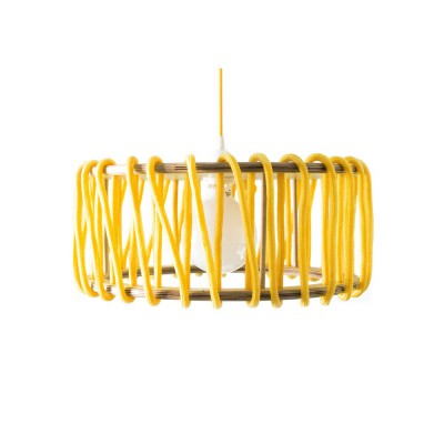 Yellow macaron lamp