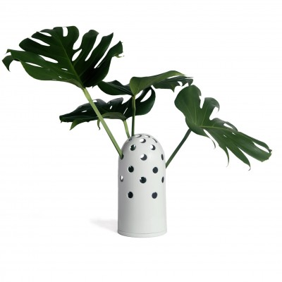 grand Vase à trou blanc