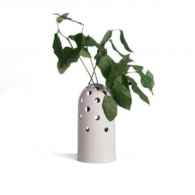 Grand vase à trou rose