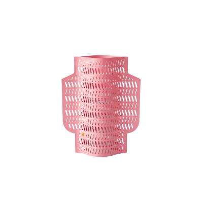 Couvre-vase tubulaire perforé rose