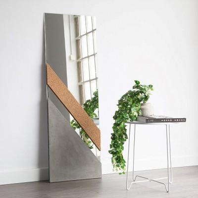 XL Mirror Concrete & cork