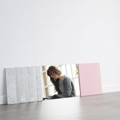 XL Mirror marble & rose