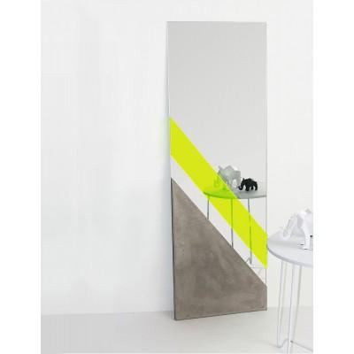 XL Mirror Concrete & Fluor methacrylate
