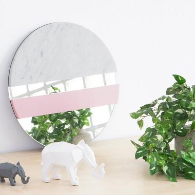 XO Mirror marble & pink